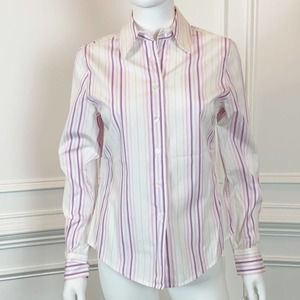 Faconnable Stiped Button Down Shirt in Size S